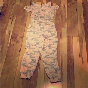 Camo clolored body suit